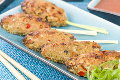 Nem Nuong Xa - Vietnamese Minced Pork Sausages Stock Image