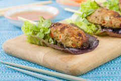 Nem Nuong Xa - Vietnamese minced pork sausages royalty free stock image