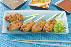 Nem Nuong Xa - Vietnamese minced pork sausages Royalty Free Stock Photo