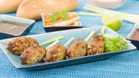 Nem Nuong Xa - Vietnamese minced pork sausages Stock Photo
