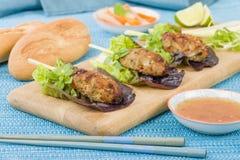 Nem Nuong Xa - Vietnamese minced pork sausages Stock Photo