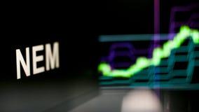 NEM símbolo de Cryptocurrency O comportamento das trocas do cryptocurrency, conceito Tecnologias financeiras modernas ilustração do vetor