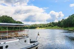 Neman flod Druskininkai Litauen Royaltyfri Fotografi