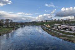 Neman flod i Hrodna Royaltyfri Fotografi