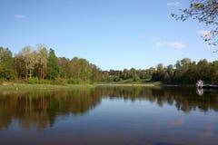 Neman-Fluss in Druskininkai Lizenzfreie Stockbilder
