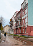 Neman, Kaliningrad region dom na brzeg rzeki Fotografia Stock