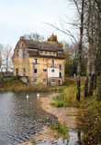Neman, Kaliningrad region dom na brzeg rzeki Obrazy Stock