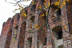 Neman, Kaliningrad region dom na brzeg rzeki Zdjęcia Stock