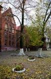 Neman, región de Kaliningrado, la casa en la orilla del río Imágenes de archivo libres de regalías
