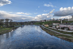 Neman River in Hrodna. In Belarus royalty free stock photography