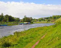 Neman River near the city of Grodno. Belarus Royalty Free Stock Image