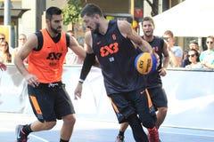 Nemanja Karalic - basquetebol 3x3 Imagens de Stock