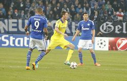 Nemanja Matić FC Schalke v FC Chelsea 8eme Final Champion League Stock Image