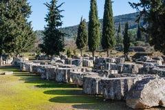 Nemea考古学站点,希腊 免版税库存照片