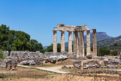 Nemea ancient temple Royalty Free Stock Photo