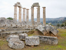 Nemea Zeus Temple. The temple of Zeus in the ancient site of Nemea, southern Greece Stock Photography