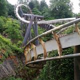 Nemesis, Alton Towers Lizenzfreie Stockfotos