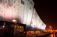The Nemo Museum at night in Amsterdam Stock Photos