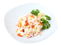 Nemo salad on a dish Royalty Free Stock Photo
