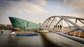 NEMO Science Museum in Amsterdam Netherlands. March 2015. Landscape format royalty free stock images