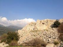Nemroda forteca W północnym Izrael obrazy stock