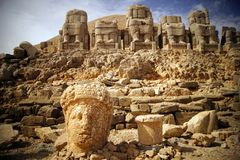 Nemrut Dag in Turkey royalty free stock photo