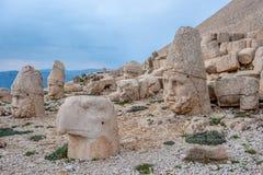 Nemrut Dagi, Анатолия, верхняя часть Турции бог стоковые изображения rf