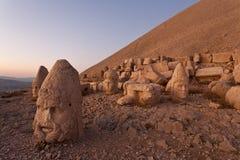 Nemrut dagi heads. stock image