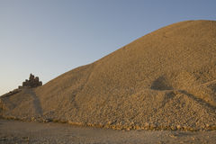 Nemrut Dagi Mountain - Conical tumulus of limeston Stock Photo