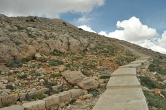 Nemrut Dagi. Mountains on the background of sky. Vertices covered with snow. Tourism Royalty Free Stock Photos