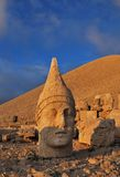 Nemrut Dagi at sunset. Colossal statues on the top of Nemrut Dagi mountain. This tomb of the Commagene King Antiochus I is UNESCO world heritage site Stock Photography