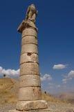 Nemrut - die Türkei - Köpfe der Statuen auf Montierung Nemrut Stockbild