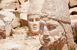 Nemrut mountain, Turkey. Antique statues on the top of Nemrut mountain, Turkey Stock Photo