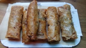 Nems vietnamiens frits Photo stock