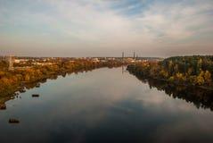 Nemunas. Autumn evening around Nemunas river Stock Photography