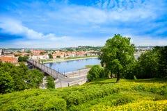 Nemunas Kaunas i rzeka Obraz Stock