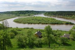 Nemunas River Curves Stock Photos