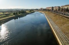 Nemunas river in Kaunas Royalty Free Stock Photography