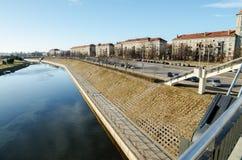 Nemunas river in Kaunas, Lithuania Stock Images