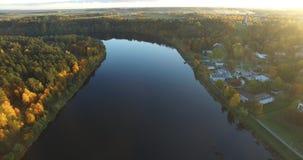 Nemunas river, Lithuania stock footage