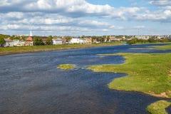 Nemunas rzeki widok Obrazy Royalty Free