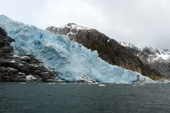 Nena Glacier in the archipelago of Tierra del Fuego. Royalty Free Stock Photo