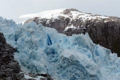 Nena Glacier in the archipelago of Tierra del Fuego. Stock Image