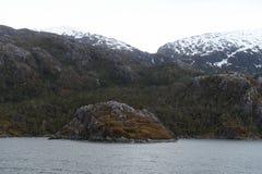 Nena Glacier in the archipelago of Tierra del Fuego. Stock Photos