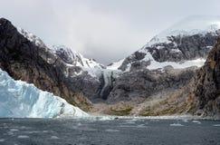 Nena Glacier in the archipelago of Tierra del Fuego. Stock Images