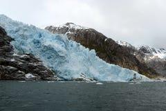 Nena lodowiec w archipelagu Tierra Del Fuego Zdjęcie Royalty Free
