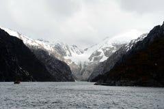 Nena lodowiec w archipelagu Tierra Del Fuego Obraz Royalty Free