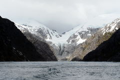 Nena lodowiec w archipelagu Tierra Del Fuego fotografia stock