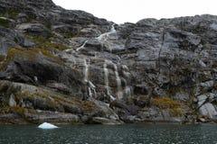 Nena lodowiec w archipelagu Tierra Del Fuego fotografia royalty free