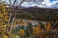 Nenana River & Wells Creek stock photo